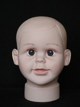 High quality Unbreakable Realistic PE baby mannequin dummy head kid Manikin  for hat display