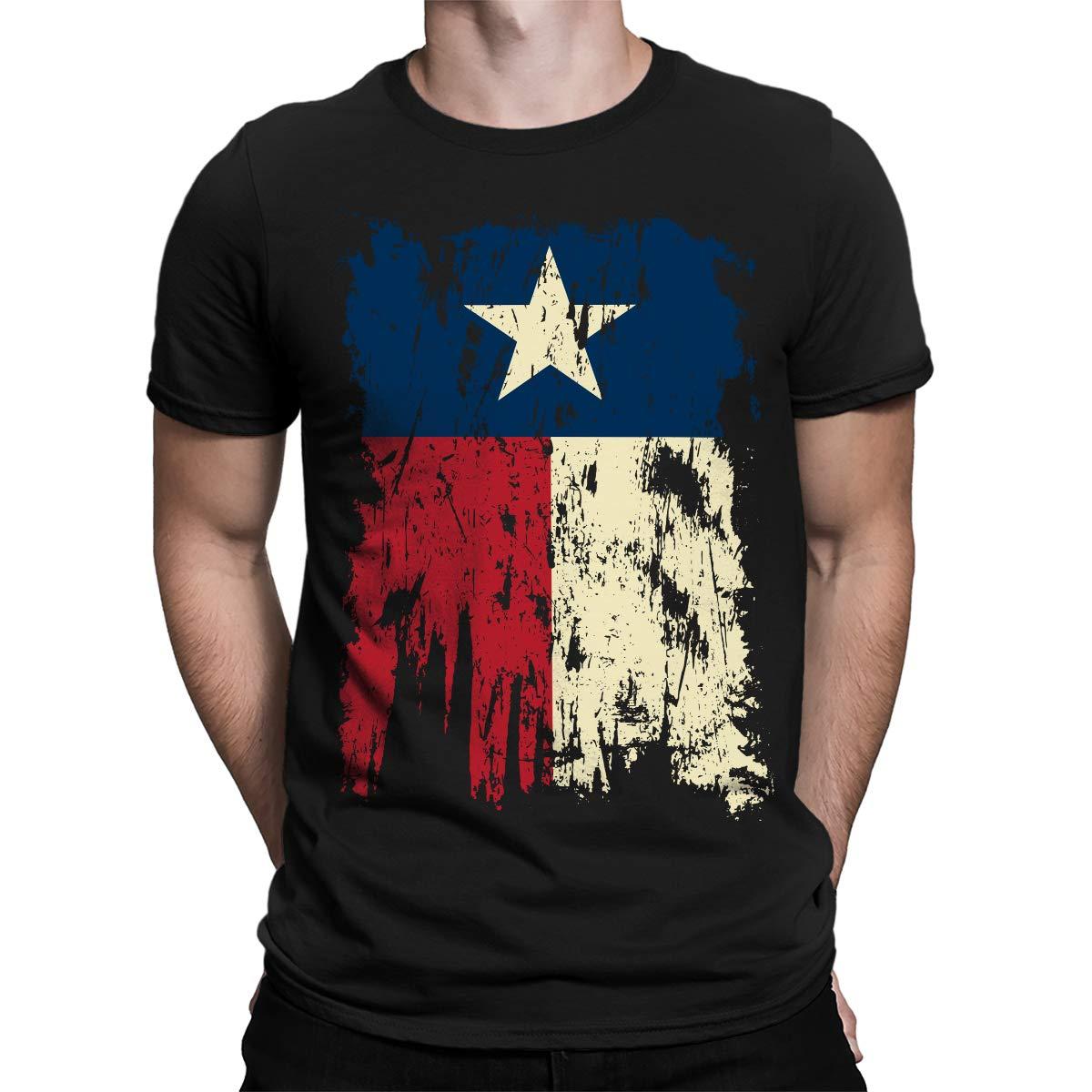 SpiritForged  Vintage Distressed Texas Flag Men's T-Shirt  hip hop  O-Neck  mens t shirts fashion 2019