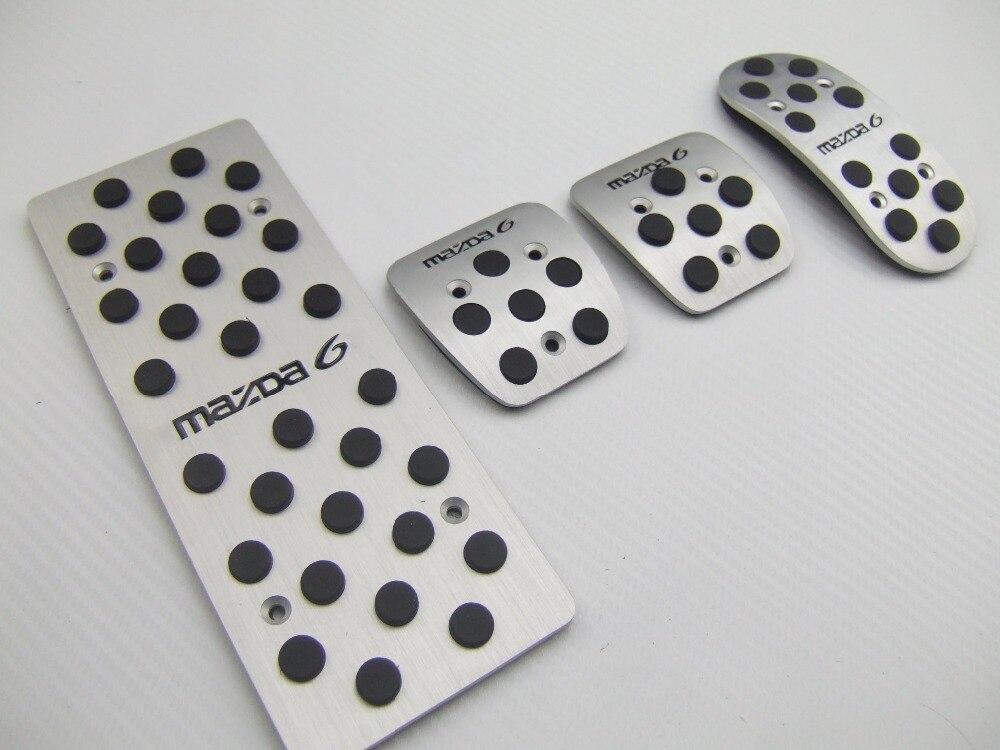 sale For MAZDA 6 MT aluminum pedals Fuel Brake REST foot pedal car pedals fast 4PCS air send