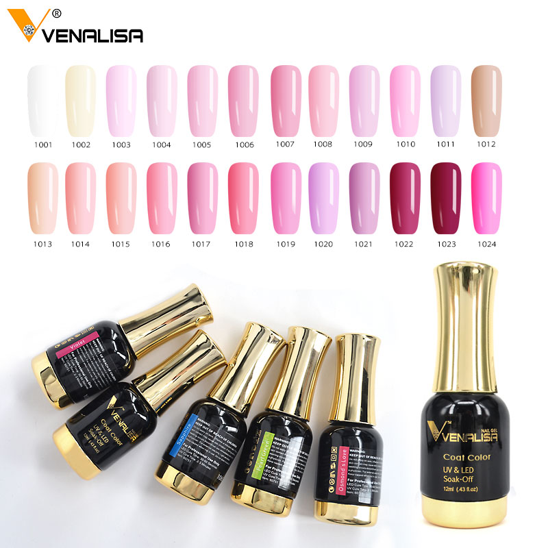 12pcs/set VENALISA Nail Painting Gel Pure Color UV LED Gel Kits CANNI Factory Nail Art Salon 12ml Paint Color Gel Lacquer Set