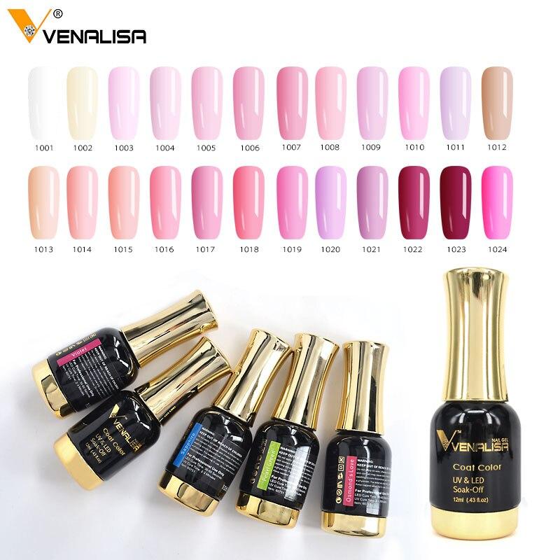 12pcs/set VENALISA Nail Painting Gel Pure Color UV LED Gel Kits CANNI Factory Nail Art Salon 12ml Paint Color Gel Lacquer Set