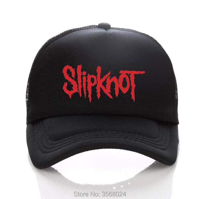 SLIPKNOT Baseball hat ROCK Printed Summer Net Snapback Hats Mesh Peaked  Adult Cap Kids Curved Brim Sun Caps Children Lover Size 10b86e468dbb