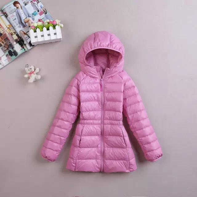 De alta qualidade da marca do inverno das crianças roupas de Cor opcional branco pato meninas e menino casaco leve para baixo casacos longos ternos