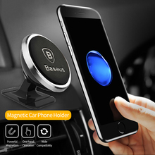 Baseus Magnetic Car Phone Holder For iPhone XS X Samsung Magnet Mount Car Holder For Phone in Car Cell Mobile Phone Holder Stand
