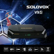 1PCS SOLOVOX V9S DVB-S2 HD Digital Satellite Receiver Support TVbox USB Port WEB TV CCCAMD NEWCAMD Miracast IPTV Box Set Top Box