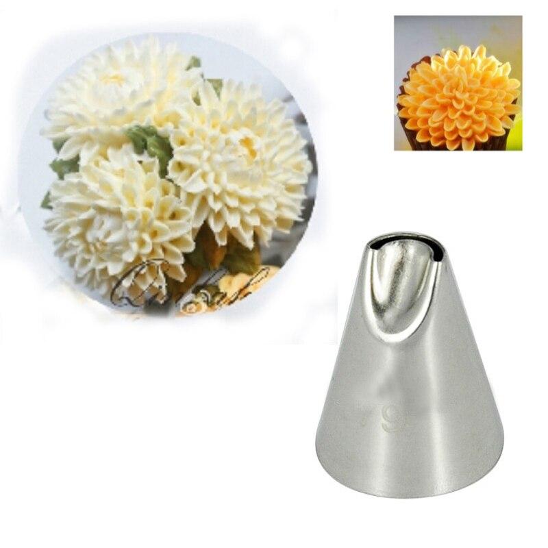 # 79 Chrysanthemum Cake Tipy Zdobící trysky Cupcake Dekorační nástroje Nerezová ocel Piping Nozzles Pastry Tools KH049
