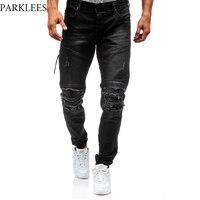 Ripped Jeans Men 2017 Brand New Hi Street Fashion Zipper Biker Jeans Homme Casual Wash Cotton
