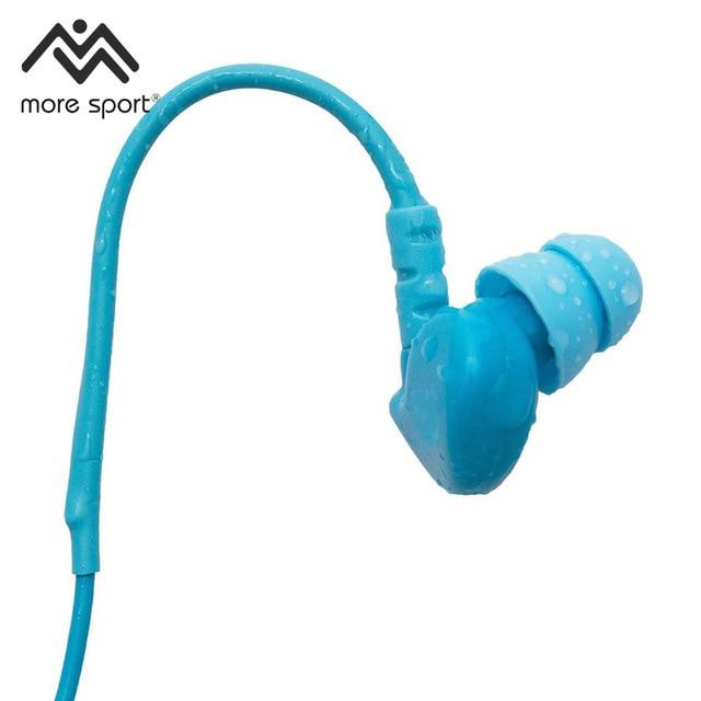 Ipx8 Waterproof Swim Active Earphones The Premiere Swimming Headphones | Short Cord, Memory Wire Technology More Sport