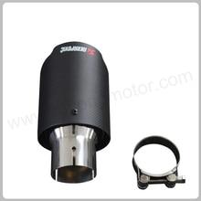 IN 48mm OD 89mm Universal Car Styling Akrapovic Exhaust Tip Carbon Fiber Muffler Tip цена
