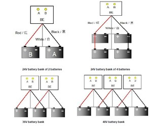 Image 3 - Equilibrador de batería, ecualizador de batería para 2X12V, batería de plomo y ácido, sistema de batería de 24V