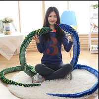 1PC 280CM Simulation Plush toys Giant Snake animals python Cloth Toy Soft Stuffed Dolls Bithday Christmas party Gifts baby Funny