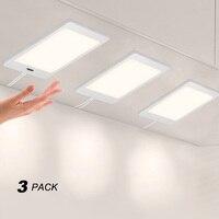 Touchless Hand Sensor 5W LED Under Cabinet Cupboard Lamp Panel Light DC12V Hardwired Connection Power Adapter White Lighting|light led|light led light|light sensor light -