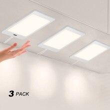 Touchless el sensörü 5W kabine altında LED dolap lambası PANEL AYDINLATMA DC12V kablolu bağlantı güç adaptörü beyaz aydınlatma