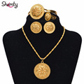 Ethiopian bridal Jewelry Sets 24K Gold plated African /Nigeria/Sudan/Eritrea/Kenya/Wedding set Habasha style Jewelry A30028