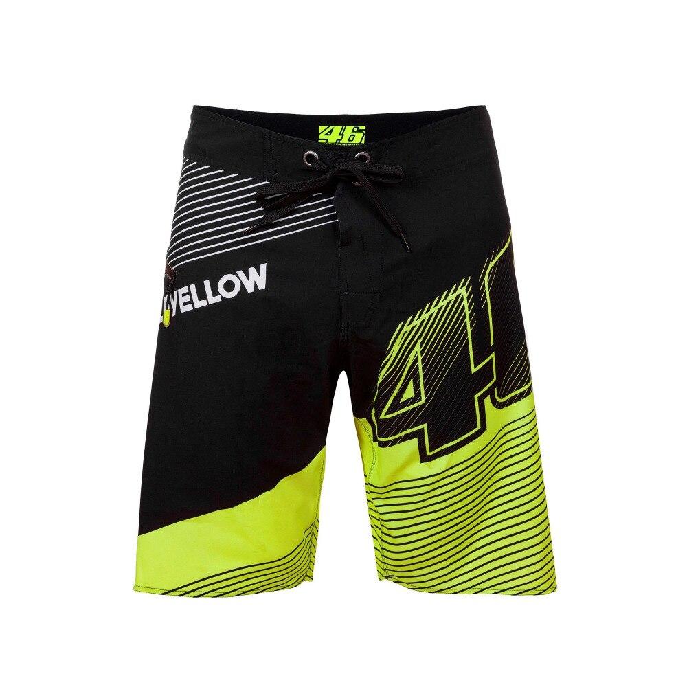 2018 высокое качество Росси VR46 Короткие повседневные Модные хлопковые короткие мотоциклетные Moto GP Гонки M1 укороченные штаны; Пляжные штаны