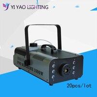 20pcs/lot 1500W Wireless Remote control LED Smoke Machine RGB color choice led fog machine Professional led stage smoke maker