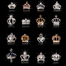 10pcs/Lot 3D Nail Art Jewelry Silver & Gold Crown Shape Nail Jewelry