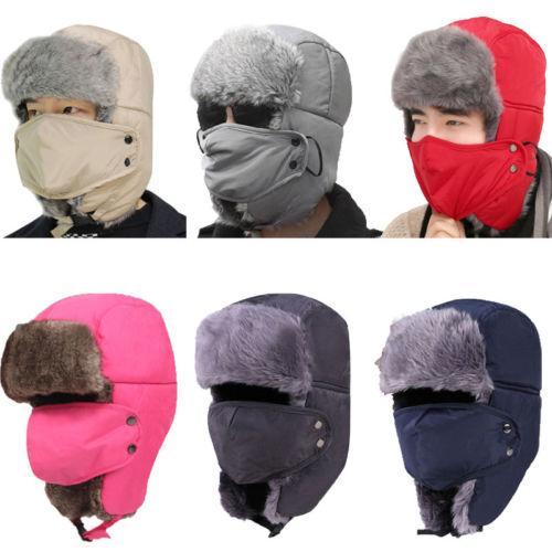 Fashion New Men Women Warm Winter Beanies Trapper Trooper Ski Hats With Mask