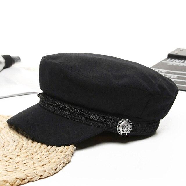 Women Baseball Cap Hats For Women Winter Octagonal Fashion French Wool Baker's Boy Hat Cap Female Black Streetwear Caps 2019 4