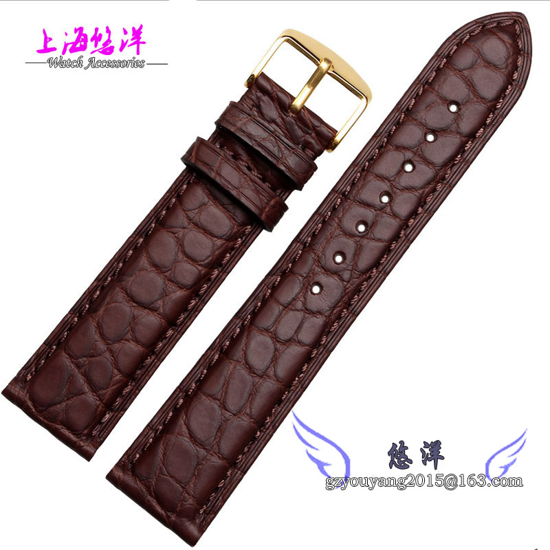 18mm 19mm 20mm 21mm 22mm Brown alligator leather watchband is available for men and women watch