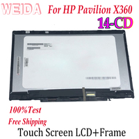 WEIDA Touch Digitizer For HP Pavilion X360 14 CD 14 CD Series Laptops Touch Screen LCD Display Assembly Replacemnt Panel 14