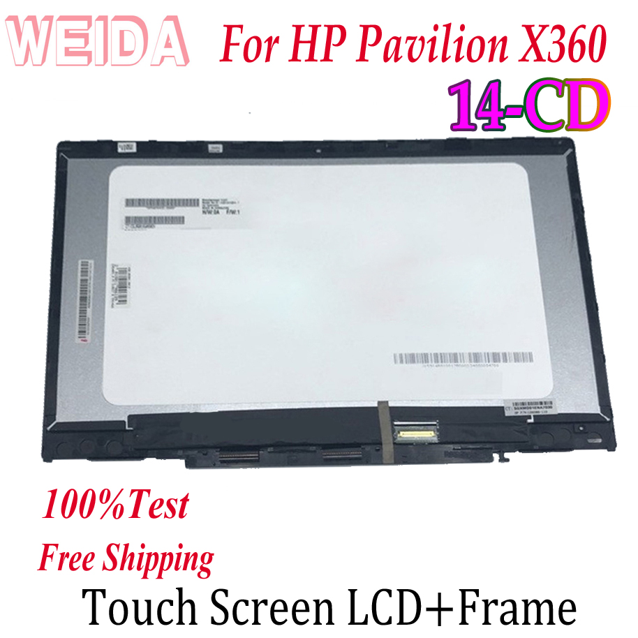WEIDA <font><b>Touch</b></font> Digitizer For HP Pavilion X360 <font><b>14</b></font>-CD <font><b>14</b></font> CD Series Laptops <font><b>Touch</b></font> <font><b>Screen</b></font> LCD Display Assembly Replacemnt Panel <font><b>14</b></font>