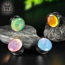цена KUBOOZ Stainless Steel Ear Tunnel Plugs Gauges Stretchers Piercing Body Jewelry Expander Fashion Earrings 2mm to 16mm 10PCS/Lot онлайн в 2017 году