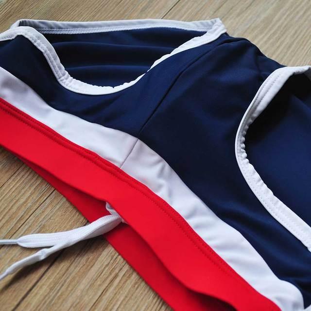 new 2017 man's Brand swimming briefs swimwear shorts trunks boxers patchwork color  Low waist Summer Men's Swim beach nadar