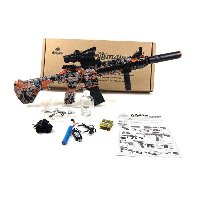 Zhenduo jouet M416 main de jouet lectric pistolet à eau Gel balle pour enfants passe-temps en plein air - 3