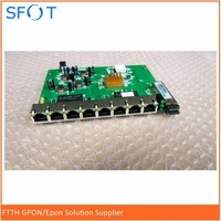 10pcs free shipping, PD with 8 ethernet ports, reverse POE optical network EPON ONU, 8 ports PCB board