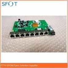 цена на PCB board, PD with 8 ethernet ports, reverse POE optical network EPON ONU, 8 ports PCB board