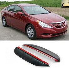 PARA Hyundai Sonata YF 2010 a 2014 de Carbono Protetor de Lâmina Flexível Estilo Do Carro À Prova de Chuva espelho retrovisor chuva sobrancelha