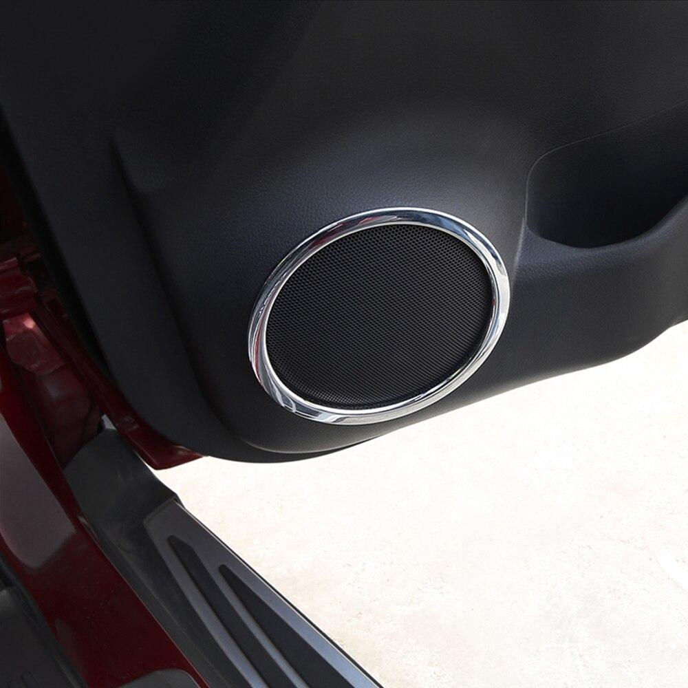 Abs chrome door speaker ring cover x trail speaker decoration trim for nissan xtrail x
