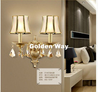 New Modern Nordic Style Copper Wall Lamp Single Double Head Hallway Light Bedroom Brass Glass Wall