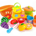 15pcs toy kitchen  Food Toy Cutting Fruit Vegetable Pretend Toy Children Kid Educational Toy miniature foodbrinquedo 2-20#7
