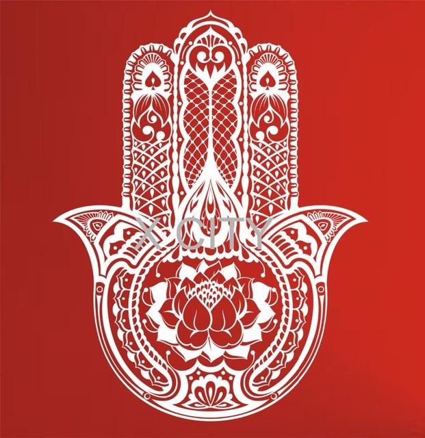 Hamsa Hand Wall Decal Vinyl Sticker Art Decor Eye Indian Buddha Yoga Fatima OM Mandala Ganesh