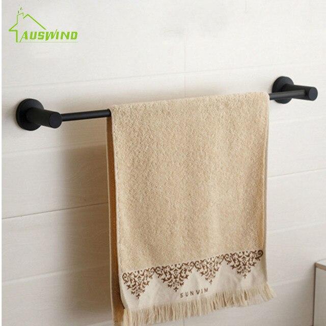 New Design Contemporary 304 Stainless Steel Brushed Black Towel Rack Simple  European Towel Bar Towel Holder
