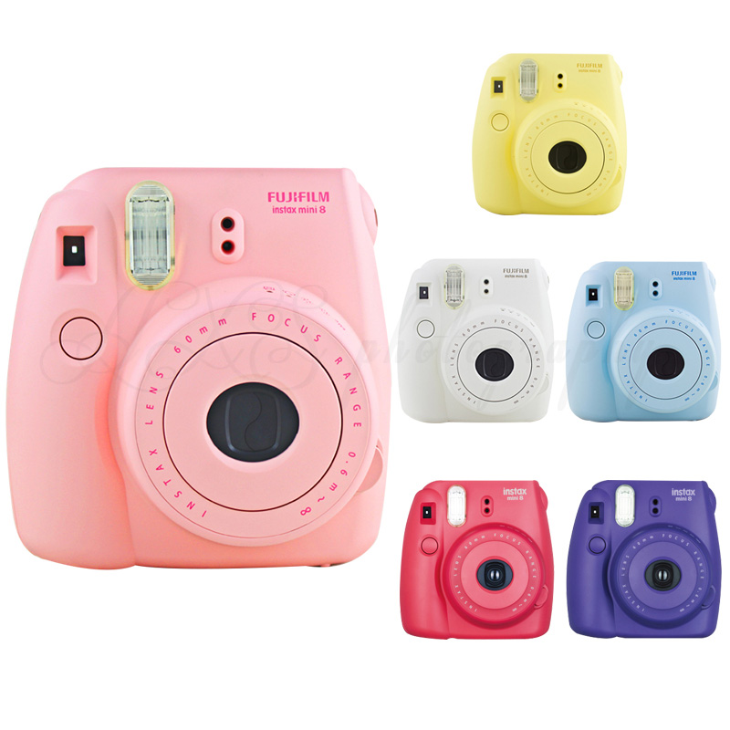 Genuine Fuji Fujifilm Instax Mini 8 Film Photo Instant Camera Pink Fast Free Shipping genuine compact fuji fujifilm instax mini 8 camera instant printing regular film snapshot shooting photos white red purple pink