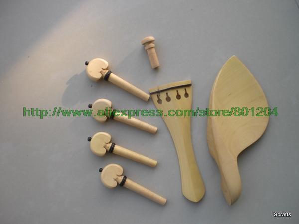 Boxwood font b Violin b font Fitting 4 4 in 10 sets with tailpiece chinrest pegs