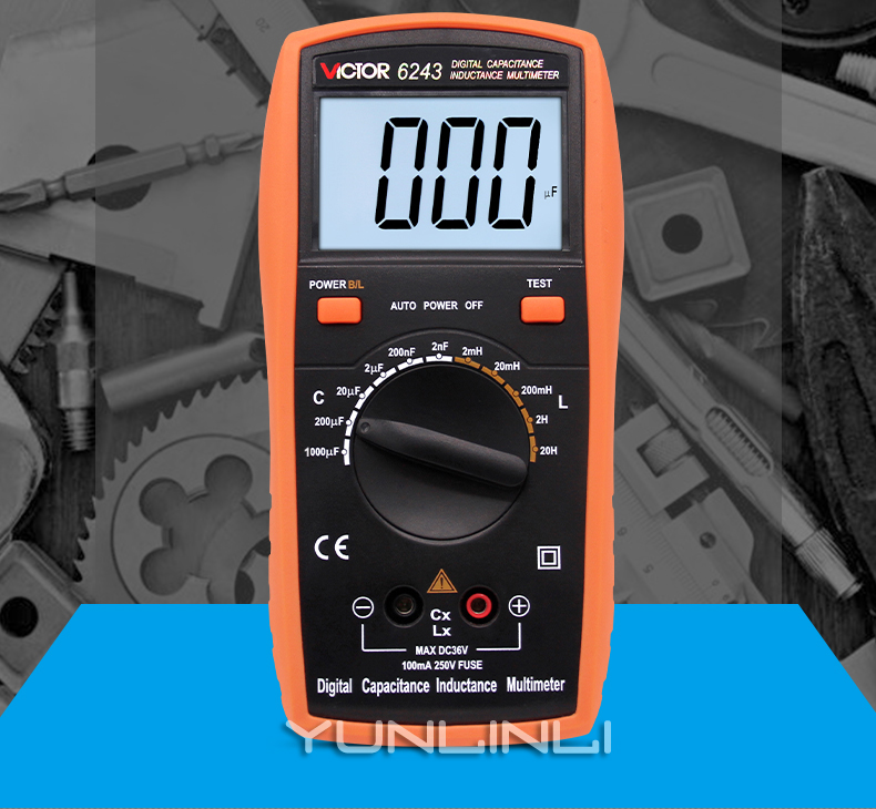 Capacitance Meter Handheld High-precision Digital With Backlight Digital Display Inductance Meter Test Instrument VC6013 lc100 a digital lcd high precision inductance capacitance l c meter capacitor test instruments