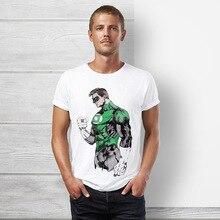 Verdadera marca DC comics superhéroe Green Lantern camiseta hombres manga  corta pikachu camiseta Arco Iris dash 02620801fe9