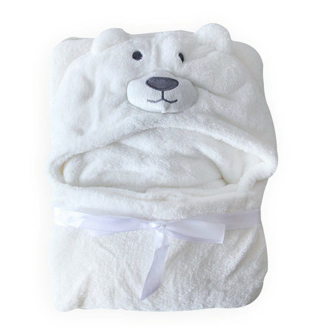 Cute and Comfortable Hooded Baby Bathrobe for Newborns