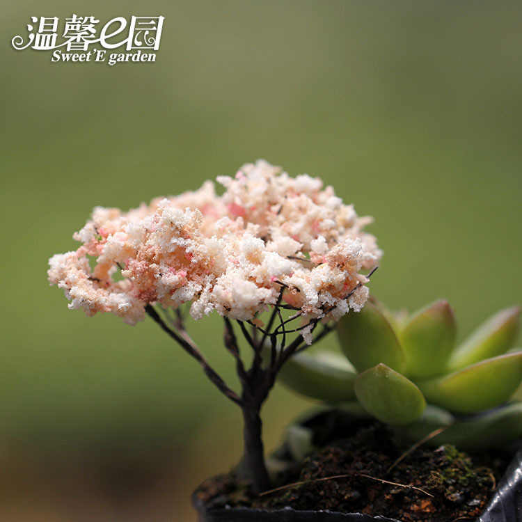 Micro Landscape Arrangement Simulates Christmas Tree Simulates Cherry Blossom Romanticflower Fairy Garden Miniatures