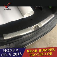 Car Styling Sequins For Honda CRV CR V 5th 2017 2018 Exterior Protective Pad On The Rear Trunk Trim Lid Threshold Rear Door