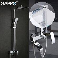 Ensemble de douche de Suite sanitaire GAPPO avec robinet de lavabo ensemble de douche de salle de bain en laiton chromé mélangeurs de robinet de bain système de douche
