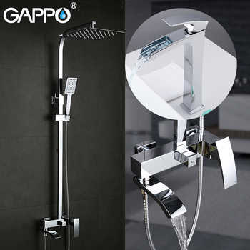 GAPPO Sanitary Ware Suite shower set with basin faucet brass bathroom shower set chrome bath faucet mixers shower system - DISCOUNT ITEM  52% OFF All Category
