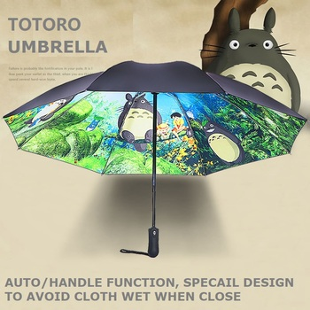 OUSSIRRO-Paraguas Ghibli Totoro para mujer, sombrilla Plegable, Paraguas, Guarda Chuva Totoro, Parapluie