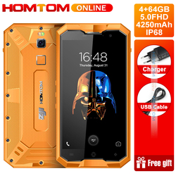 HOMTOM ZOJI Z8 IP68 Waterproof 5.0 Inch Smartphone Octa Core 4GB RAM 64GB ROM Android 7.0 4250mAh 13MP Fingerprint ID Cellphone