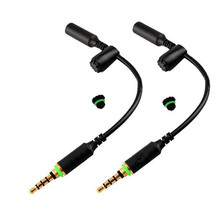 LBSC2 Pack Waterproof Headphone Cable 3.5mm Audio Adapter for Lifeproof Fre and Nuud Case of iPhone 6/6 Plus, 6S/6S Plus (Black)