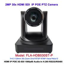 1080 จุด HDMI 3G SDI 60Fps 30X optical zoom HD IP POE กล้องการประชุม